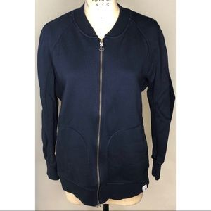 Adidas navy blue full zip jacket